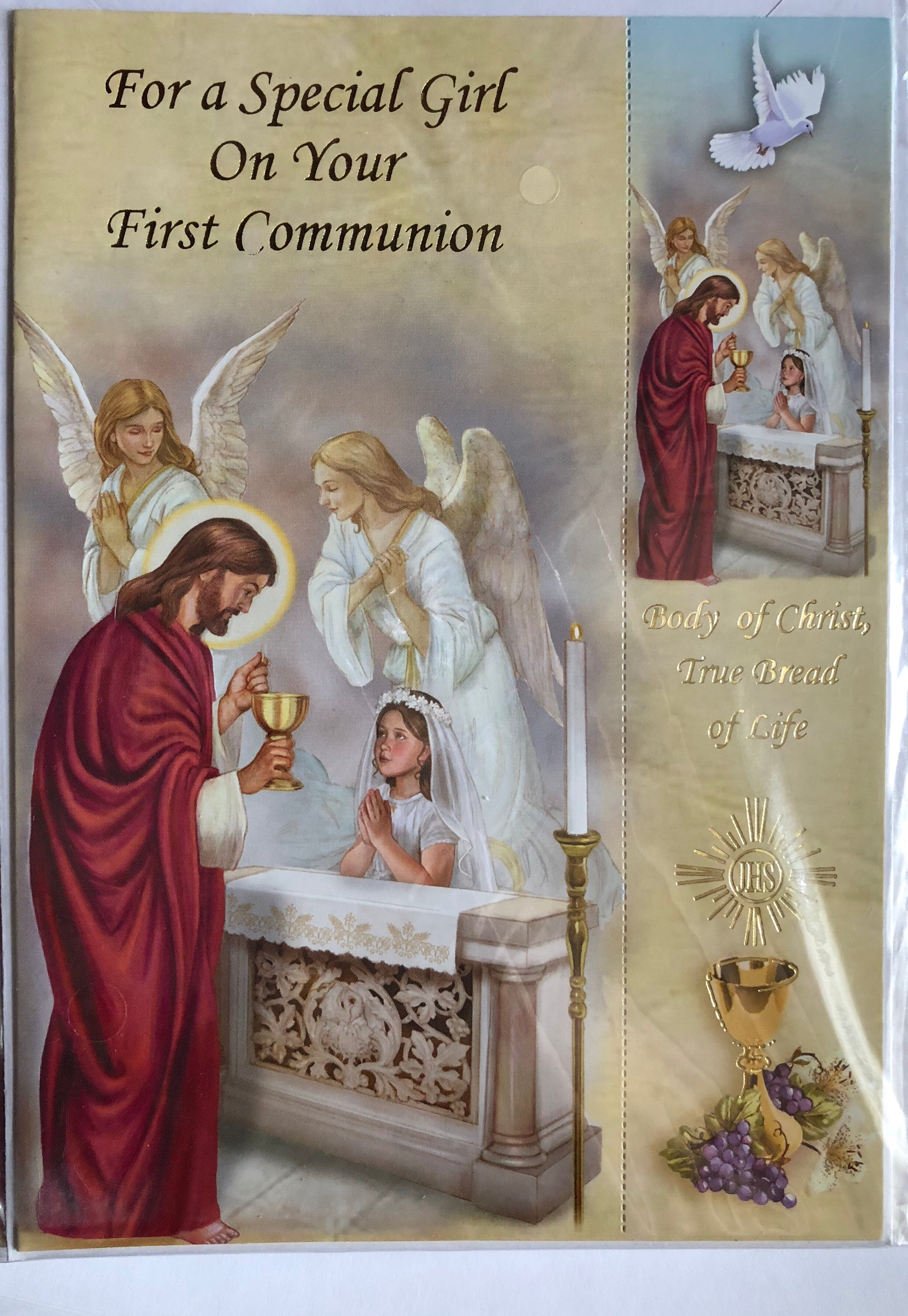 Greeting Card With Envelope For Girls First Communion Allens