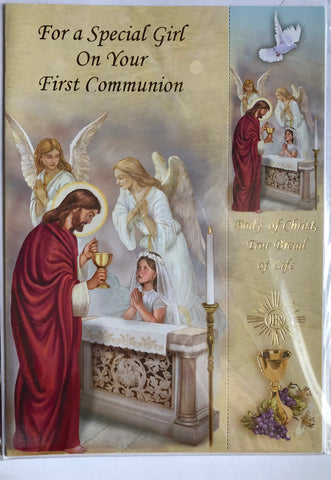 Greeting Card with Envelope for Girl's First Communion