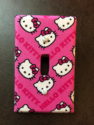 Hello Kitty wall light switch plate cover