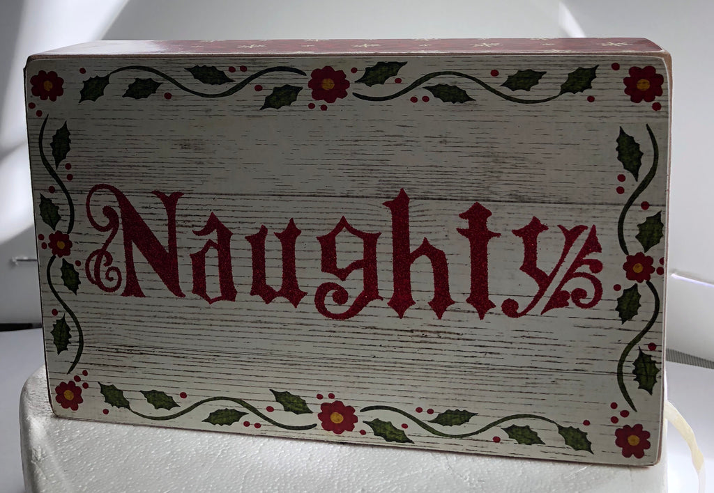 Jim Shore Naughty Wooden Wall Decor