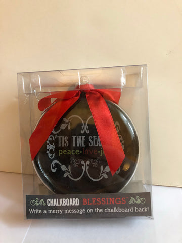 Tis the Season - Chalkboard Blessings Ornament