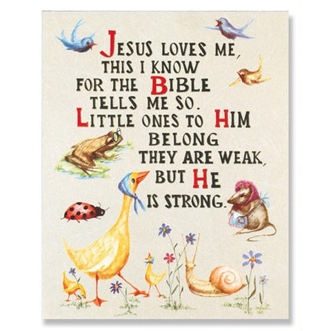 Jesus Loves Me Framed Print