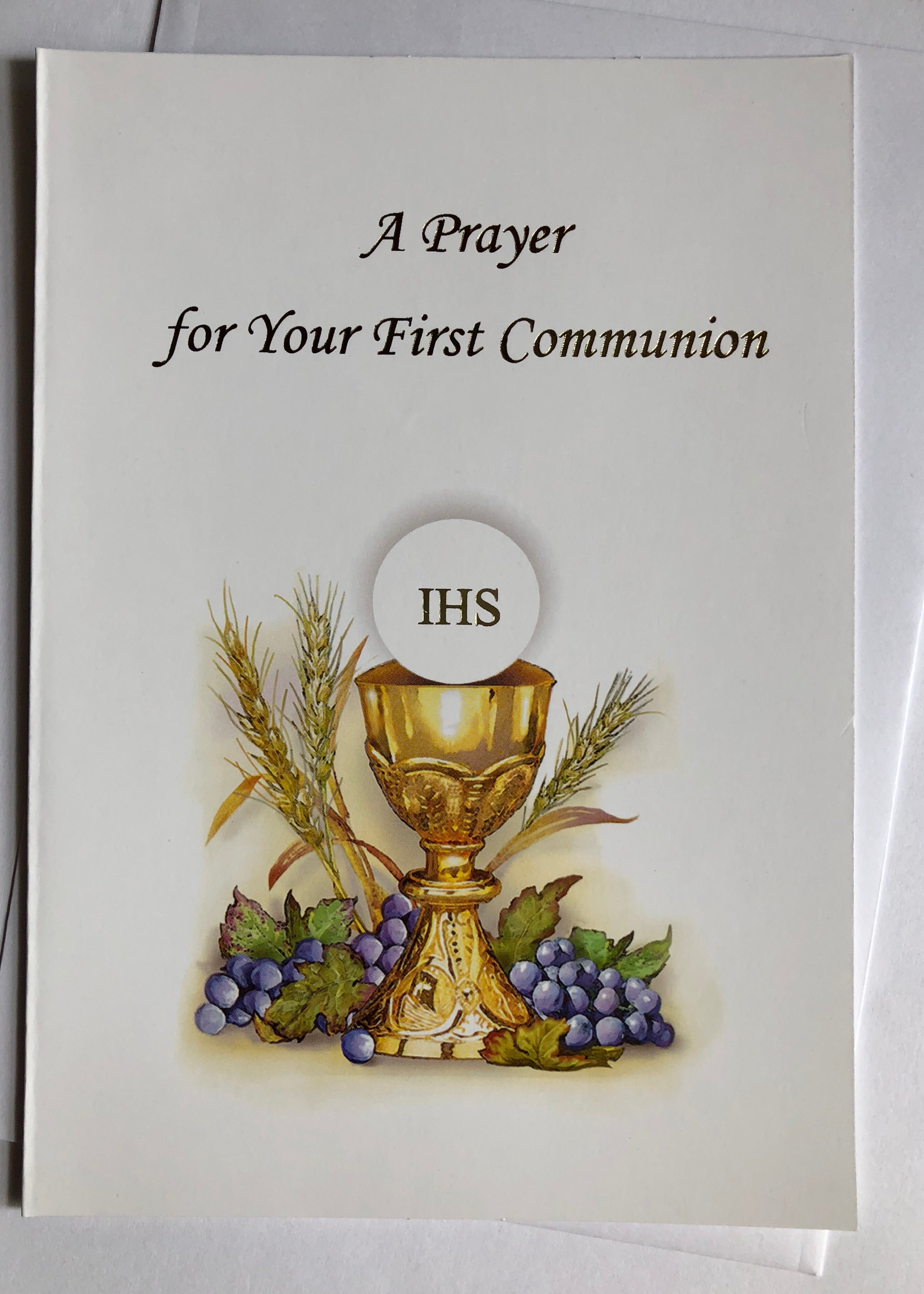 Greeting card with envelope for first communion allens online greeting card with envelope for first communion kristyandbryce Choice Image