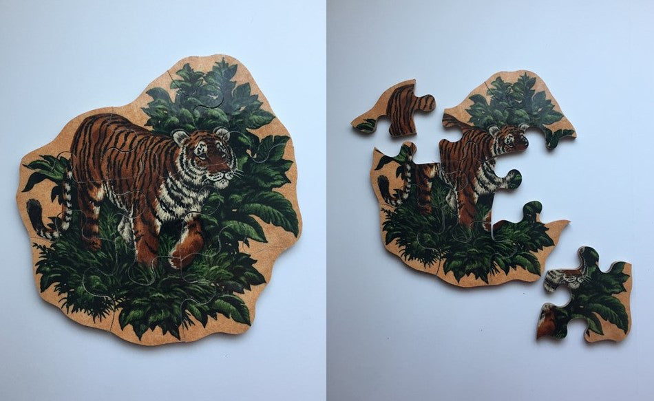 Standing Tiger Wooden Puzzle