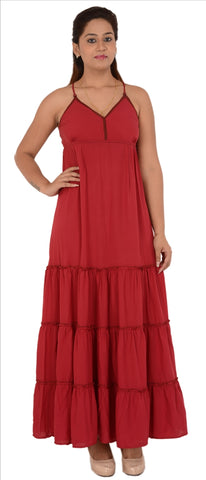 Women's Moss Crepe Long Maxi Dress