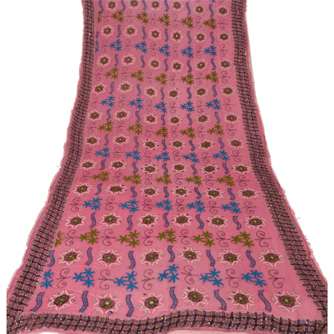 Vintage Dupatta Long Stole One OF A Kind Hand Embroidered Phulkari Scarves Wrap
