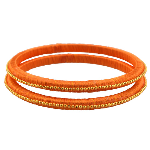 Zephyrr Traditional Thread Bangles With Beads.