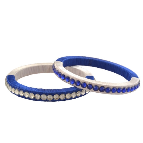 Zephyrr Traditional Thread Bangles With Beads