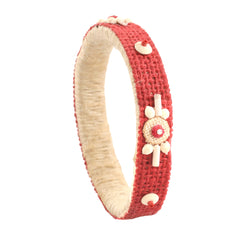 Sanskriti fashion Jute Lightweight Handmade Bangle With Wooden Beads