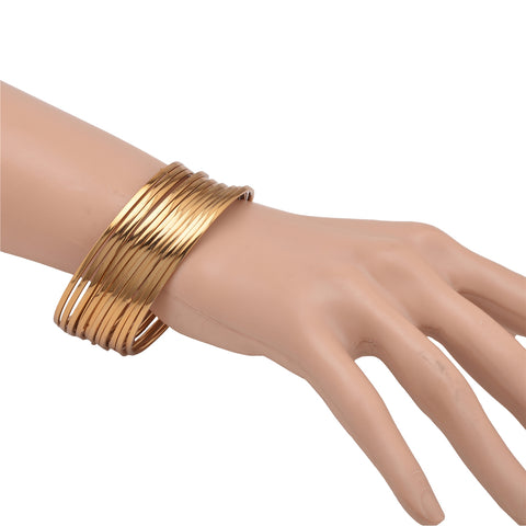 Zephyrr Antique Look Jewellery Gold Plated Traditional Bracelet Bangles
