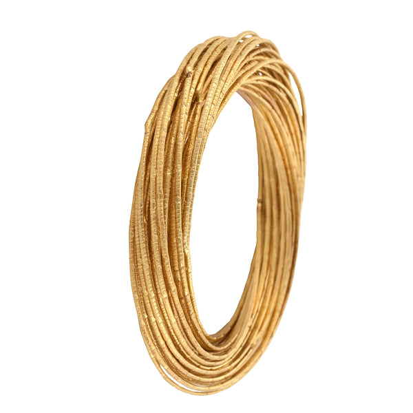 Zephyrr Fashion Gold Tone Spiral Bangle