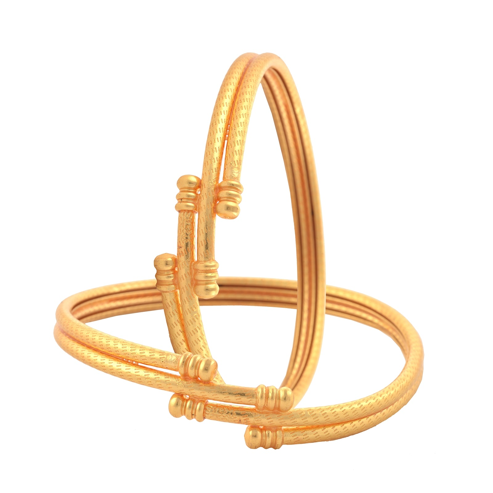 Fashion Gold Plated Bangles Pair For Women Daily Wear | StompMarket
