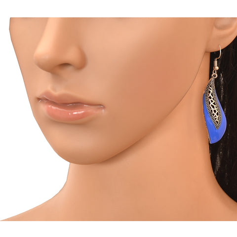 Fashion Lightweight Hook Dangler Cut Work Earrings For Women - StompMarket