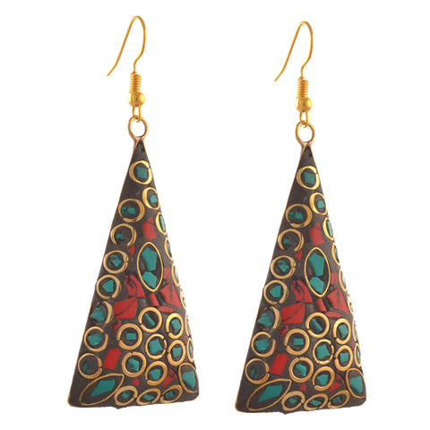 Fashion Lightweight Tibetan Hook Dangler Earrings For Girls - StompMarket