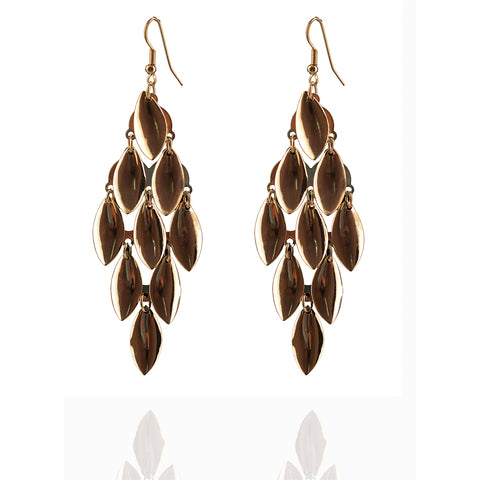 Fashion Hanging Hook Earrings For Women Leaves - StompMarket