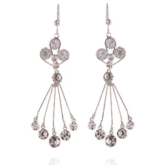 Fashion Cz Dangling Hook Earrings For Women - StompMarket