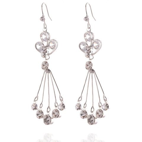Fashion Cz Dangling Hook Earrings For Women