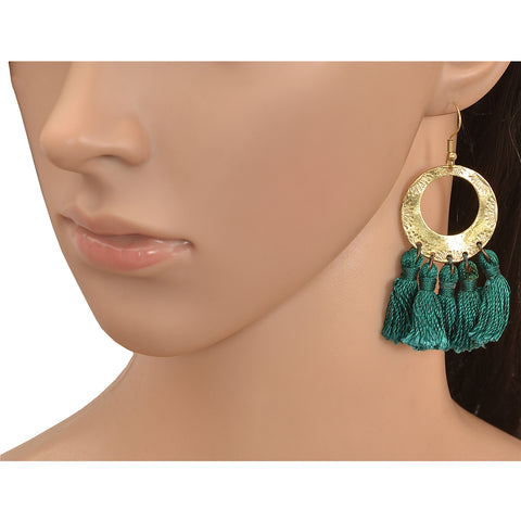 Ornamenta Lightweight Hook Dangler Hanging Earrings with Tassels