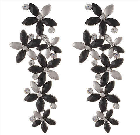 Fashion Black Stones Pierced Dangle & Drop Earrings For Women - StompMarket