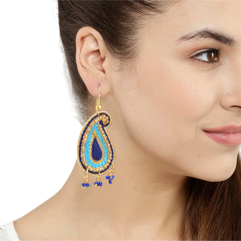 Sanskriti Fashion Handmade Lightweight Beaded Hook Earrings