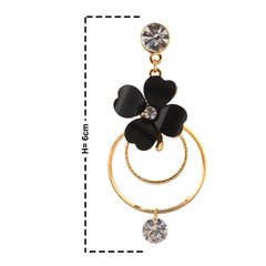 Fashion Hanging Hoop Earrings Zircons Flower For Women - StompMarket