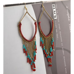 Fashion Dangler Lightweight Beaded Hook Earrings For Women Handmade - StompMarket