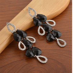 Fashion Hanging Dangle And Drop Pierced Earrings For Women With Zircons - StompMarket