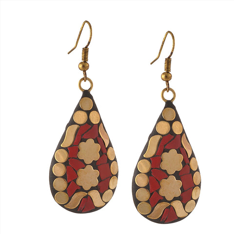 Fashion Handmade Lightweight Tibetan Hook  Dangler Earrings For Women