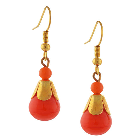 Fashion Handmade Lightweight Beaded Hanging Hook Earrings For Women