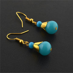 Fashion Handmade Lightweight Beaded Hanging Hook Earrings For Women - StompMarket