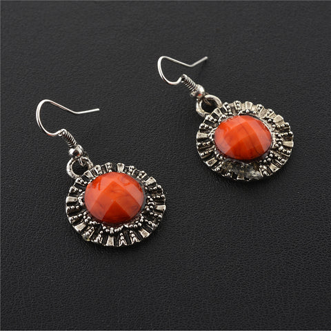 Fashion Handmade Oxidized Silver Lightweight Hook Earrings For Girls - StompMarket