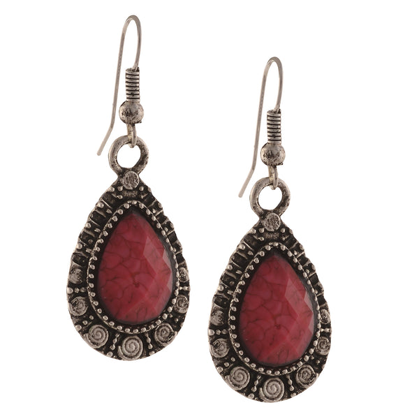 Fashion Handmade Oxidized Silver Lightweight Hook Earrings For Girls
