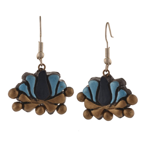 Fashion Handmade Painted Terracotta Hook Dangle Earrings - StompMarket