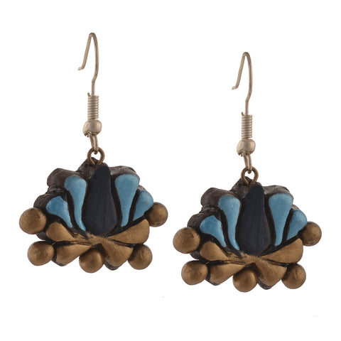 Fashion Handmade Painted Terracotta Hook Dangle Earrings