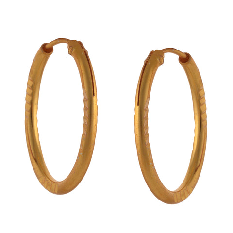 Fashion Golden Hoop Earrings Girls And Women