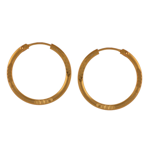 Fashion Golden Hoop Earrings Girls And Women - StompMarket