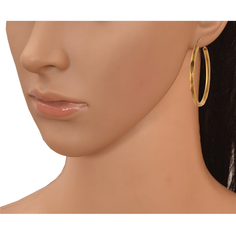 Fashion Golden Stud Hoop Earrings With Zircons For Women Set Of 5 - StompMarket