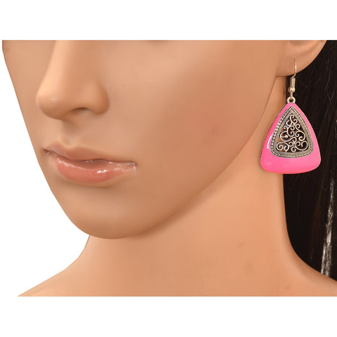 Fashion Ethnic Hook Earrings With Cutwork Design For Girls And Women - StompMarket