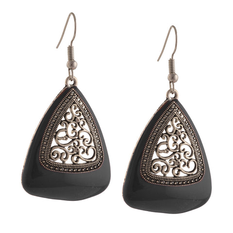 Fashion Ethnic Hook Earrings With Cutwork Design For Girls And Women