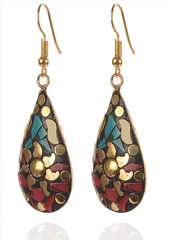 Fashion Hanging Hook Earrings Tibetan Style For Women - StompMarket