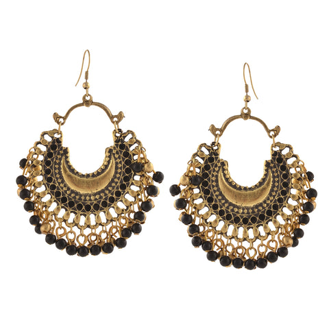 Fashion German Silver Ethnic Beaded Dangler Hook Earrings For Women - StompMarket