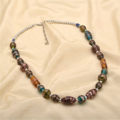 Ornamenta Necklace Handmade Beaded Choker Jewellery Boho with Glass Beads