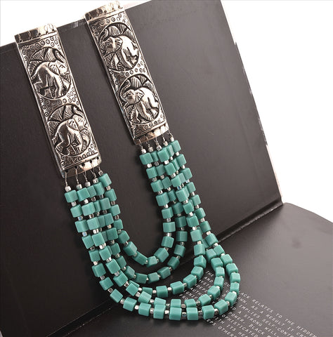 Fashion Handmade Tibetan Style Necklace For Women With Beads