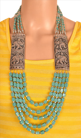 Fashion Handmade Tibetan Style Necklace For Women With Beads - StompMarket