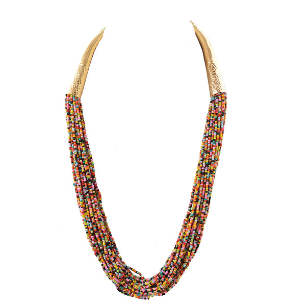 Fashion Multi Strand Beaded Handmade Tribal Boho Necklace For Women