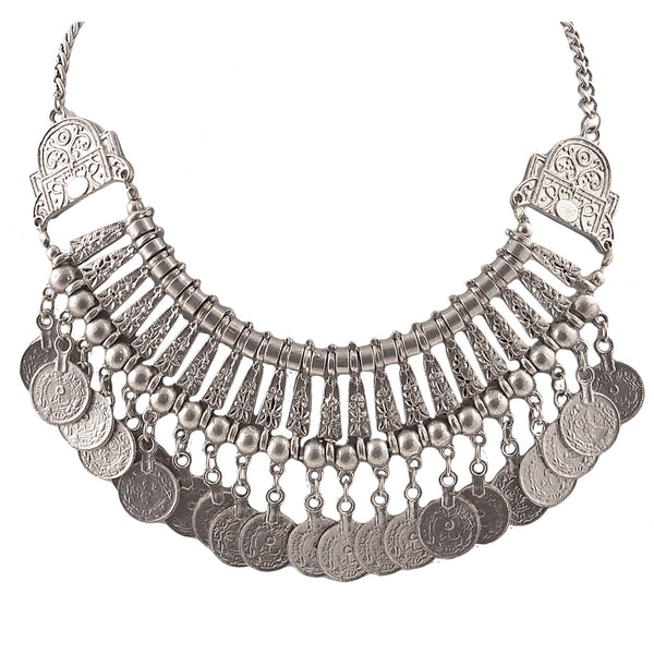 Fashion Coin Choker Turkish Style Necklace For Women Boho Gypsy