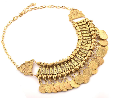 Fashion Coin Choker Turkish Style Necklace For Women Boho Gypsy - StompMarket