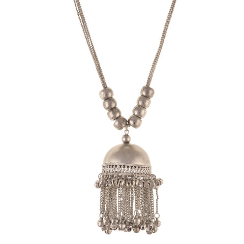 Fashion Beaded Trendy Pendant Necklace With Magic Sound Bells For Women - StompMarket