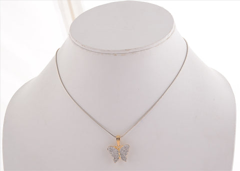 Fashion Pendant Earrings Set Handmade American Diamonds Party Butterfly - StompMarket