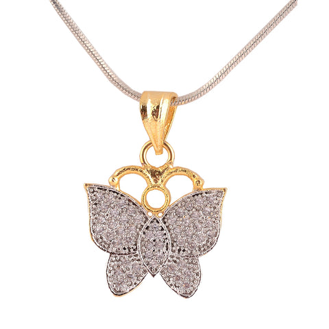Fashion Pendant Earrings Set Handmade American Diamonds Casual Butterfly - StompMarket